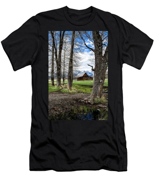 Men's T-Shirt (Athletic Fit) featuring the photograph Moulton Barn On Mormon Row by Scott Read