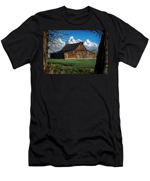 Men's T-Shirt (Athletic Fit) featuring the photograph Moulton Barn And Tetons by Scott Read