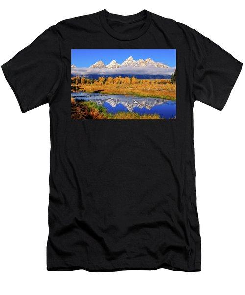 Teton Peaks Reflections Men's T-Shirt (Athletic Fit)