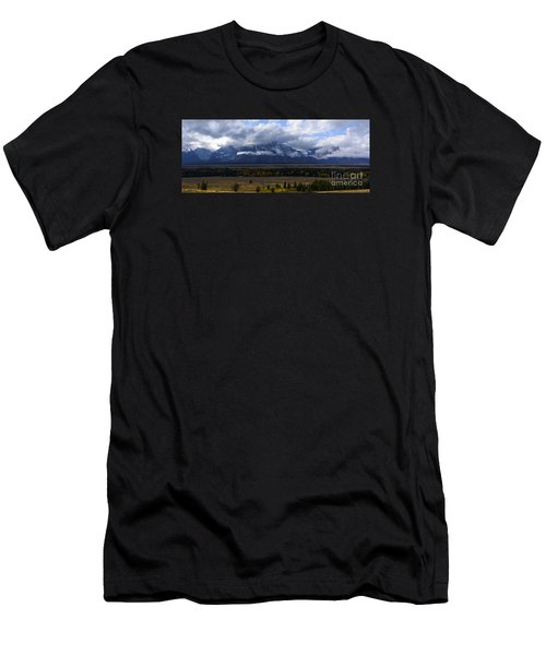Men's T-Shirt (Slim Fit) featuring the photograph Teton Range # 1 by Sandy Molinaro