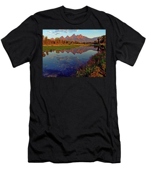 Teton Wildflowers Men's T-Shirt (Slim Fit) by Scott Mahon