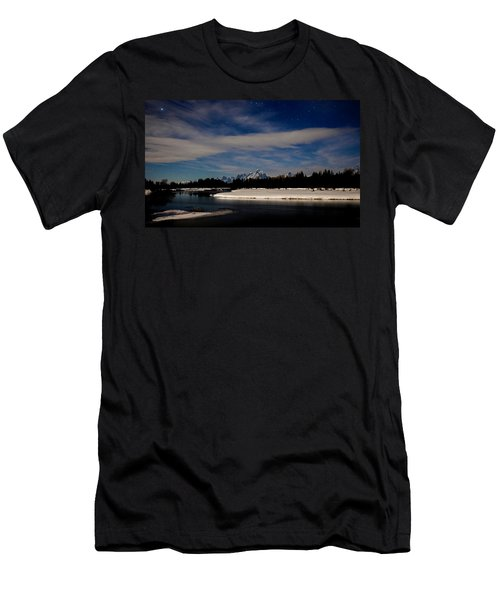 Tetons At Moonlight Men's T-Shirt (Athletic Fit)