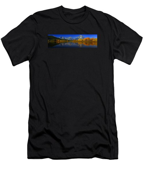 Tetons From Oxbow Bend Men's T-Shirt (Slim Fit) by Raymond Salani III