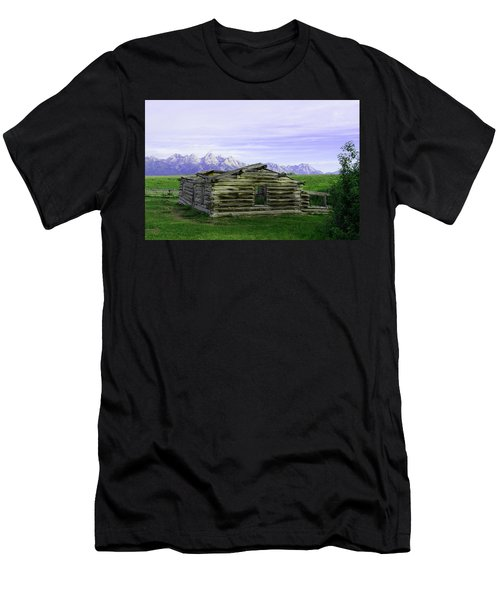 Tetons From The Shane Barn Men's T-Shirt (Athletic Fit)