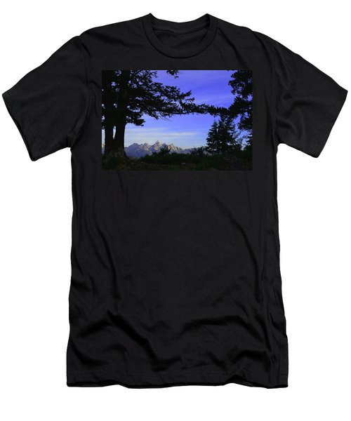 Tetons From The Wedding Trees Men's T-Shirt (Athletic Fit)