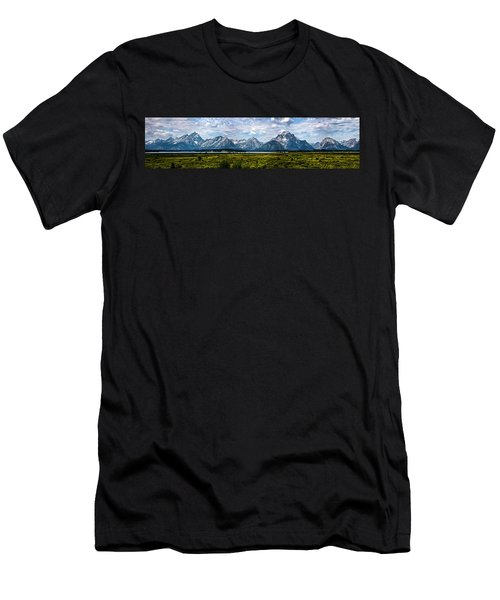 Tetons - Panorama Men's T-Shirt (Athletic Fit)