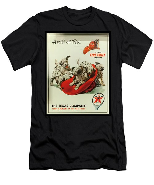 Men's T-Shirt (Athletic Fit) featuring the photograph Texaco Antique Sign by Chris Flees
