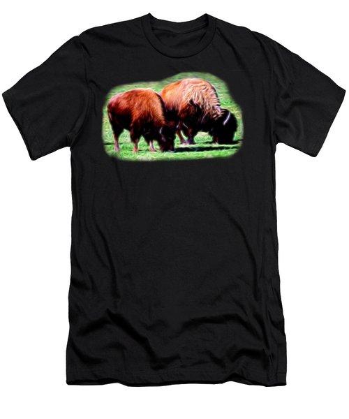 Texas Bison Men's T-Shirt (Athletic Fit)