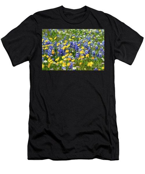 Texas Blue Bonnet  Men's T-Shirt (Athletic Fit)