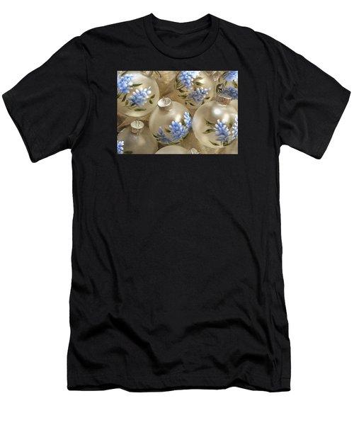 Texas Bluebonnet Ornaments Men's T-Shirt (Athletic Fit)