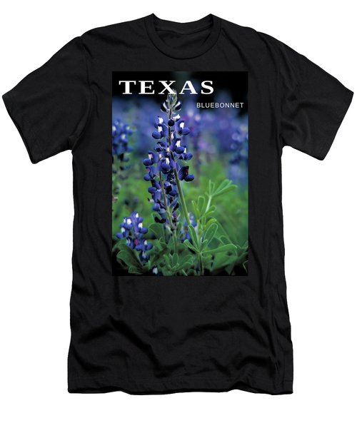 Men's T-Shirt (Slim Fit) featuring the mixed media Texas Bluebonnet State Flower by Daniel Hagerman