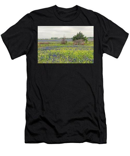 Texas Bluebonnets 3 Men's T-Shirt (Athletic Fit)