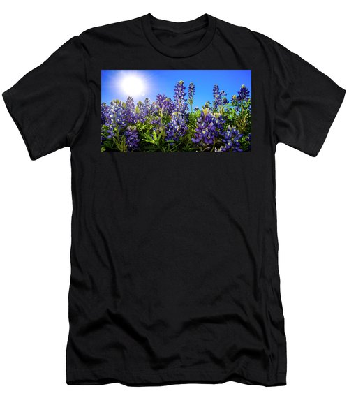 Texas Bluebonnets Backlit II Men's T-Shirt (Athletic Fit)