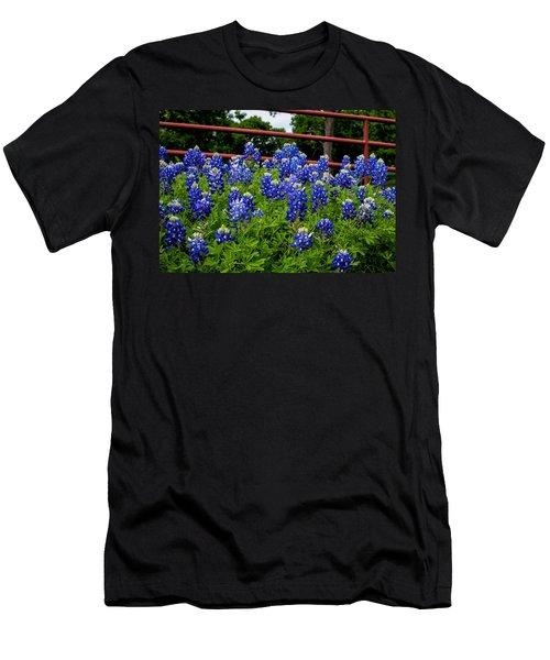Texas Bluebonnets In Ennis Men's T-Shirt (Athletic Fit)