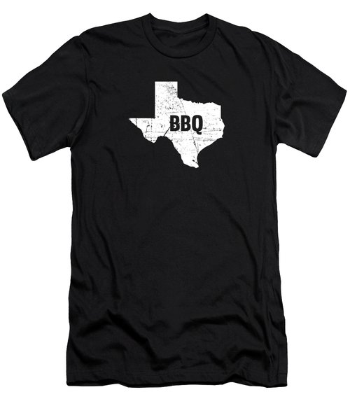 Texas Born Bbq Barbecue Gift Men's T-Shirt (Athletic Fit)