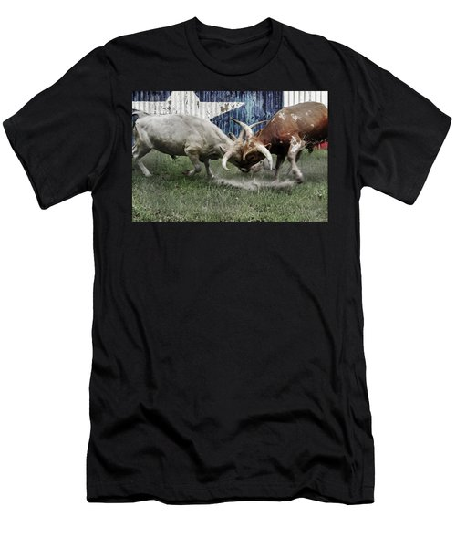 Texas Bull Fight  Men's T-Shirt (Athletic Fit)