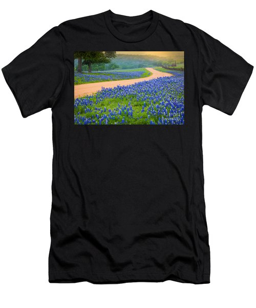 Texas Country Road Men's T-Shirt (Athletic Fit)