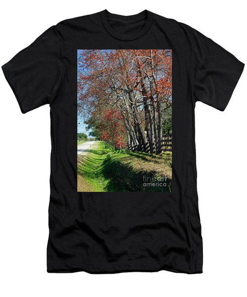 Men's T-Shirt (Athletic Fit) featuring the photograph Texas Fall by Lori Mellen-Pagliaro