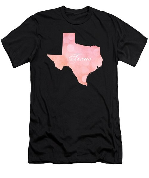 Texas Pink And Coral Bokeh Men's T-Shirt (Athletic Fit)