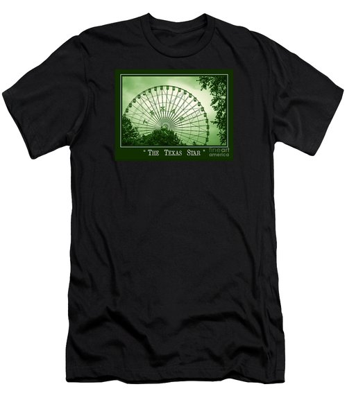 Texas Star In Green Men's T-Shirt (Athletic Fit)