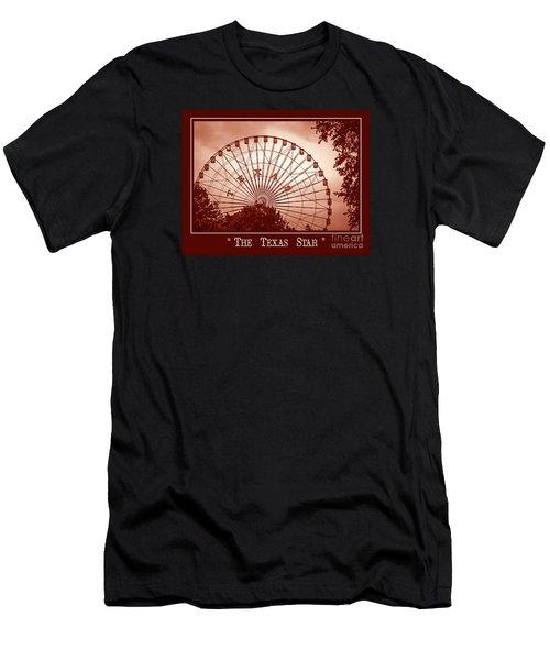 Texas Star In Orange Men's T-Shirt (Athletic Fit)