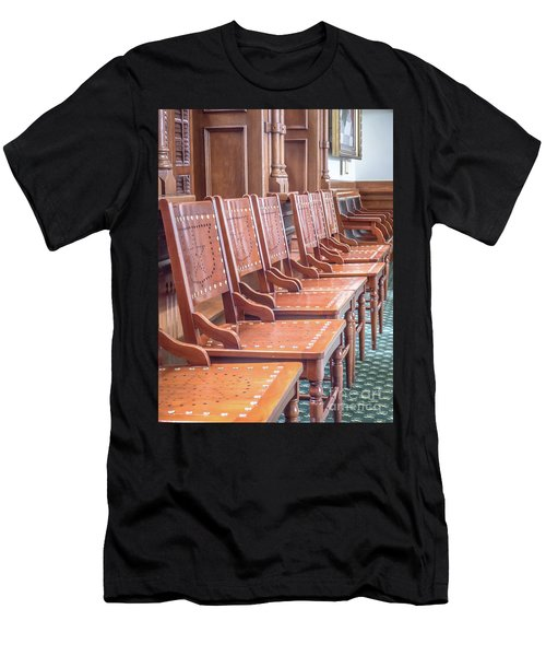 Texas Statehouse Chairs Men's T-Shirt (Athletic Fit)