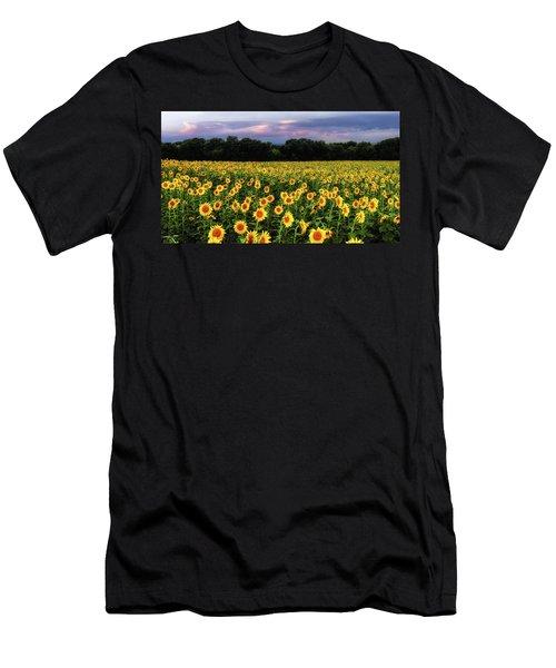 Texas Sunflowers Men's T-Shirt (Athletic Fit)