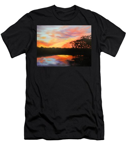 Texas Sunset Silhouette Men's T-Shirt (Slim Fit) by Patti Gordon