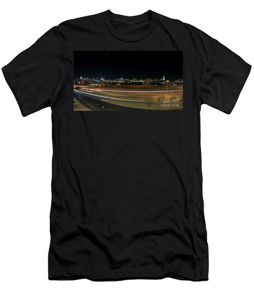 Texas University Tower And Downtown Austin Skyline From Ih35 Men's T-Shirt (Athletic Fit)