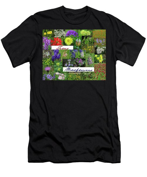 Texas Wildflower Collage Men's T-Shirt (Athletic Fit)