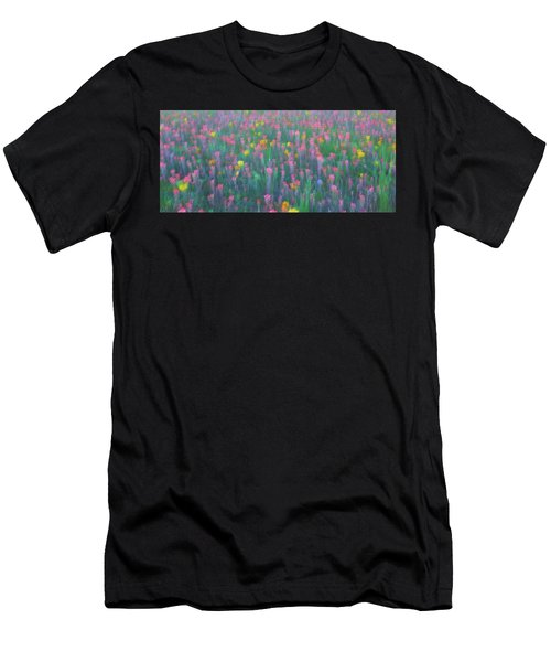 Texas Wildflowers Abstract Men's T-Shirt (Athletic Fit)
