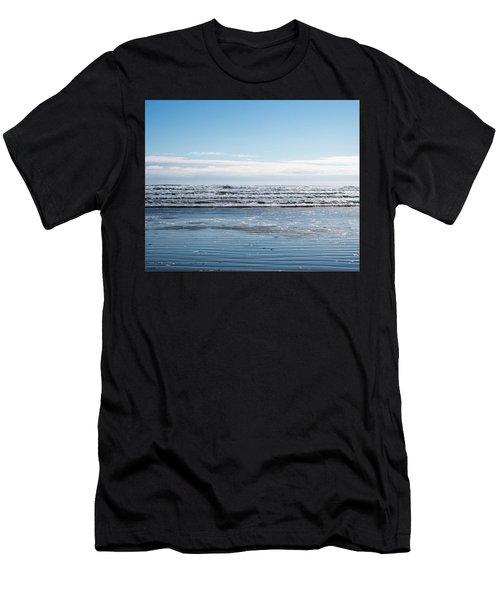 Textured Blues Men's T-Shirt (Athletic Fit)