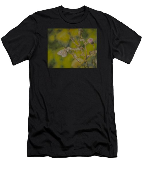 Textured Butterfly 1   Men's T-Shirt (Athletic Fit)