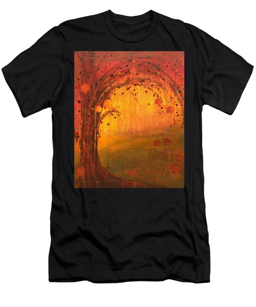 Textured Fall - Tree Series Men's T-Shirt (Athletic Fit)
