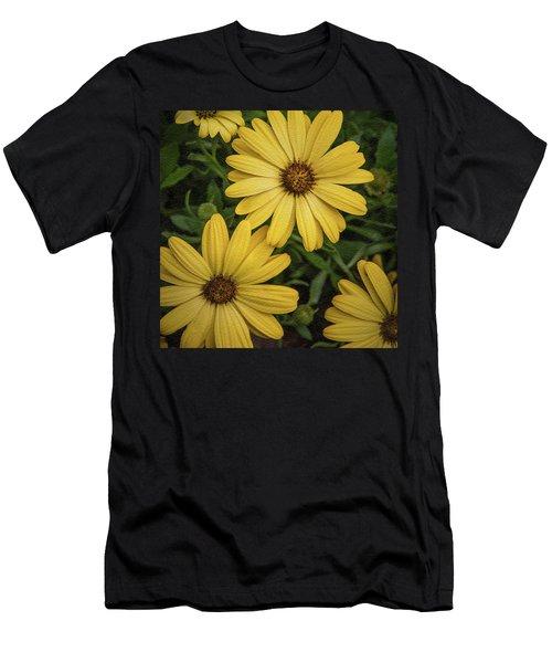 Textured Floral Men's T-Shirt (Athletic Fit)
