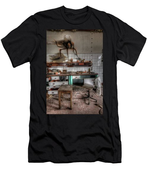 Th Mad Scientist  Men's T-Shirt (Slim Fit) by Nathan Wright