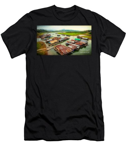 Thai Floating Village Men's T-Shirt (Athletic Fit)