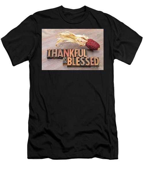 thankful and blessed - Thanksgiving theme Men's T-Shirt (Athletic Fit)