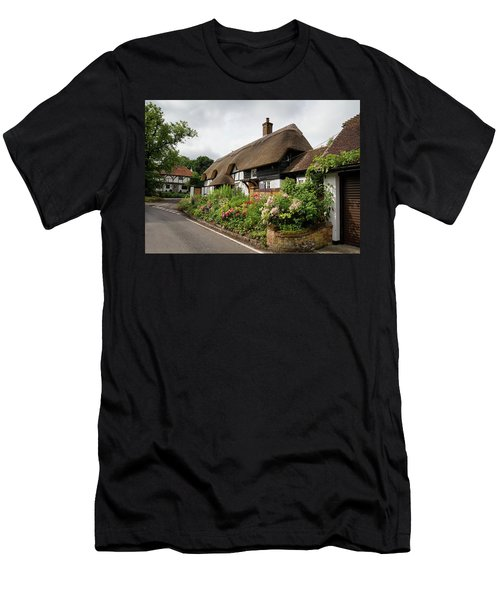 Thatched Cottages In Micheldever Men's T-Shirt (Athletic Fit)