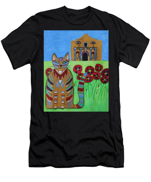 the Alamo Cat Men's T-Shirt (Athletic Fit)