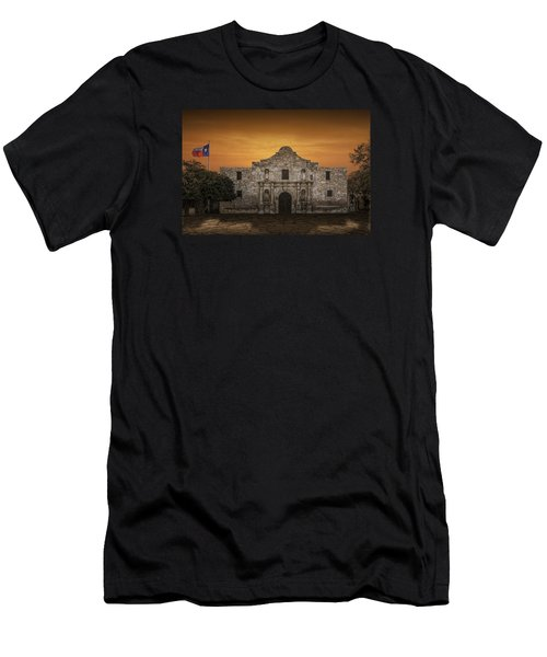 The Alamo Mission In San Antonio Men's T-Shirt (Slim Fit) by Randall Nyhof
