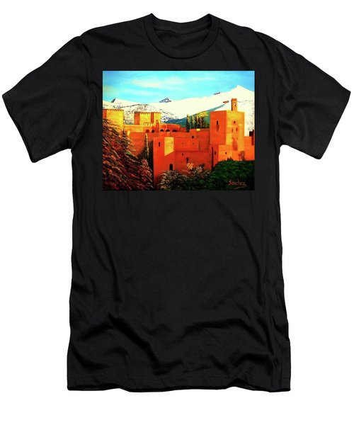 The Alhambra Of Granada Men's T-Shirt (Slim Fit) by Manuel Sanchez