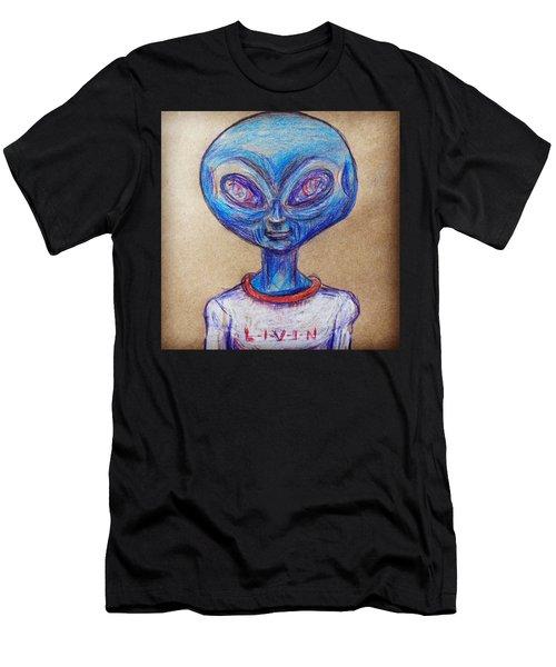The Alien Is L-i-v-i-n Men's T-Shirt (Athletic Fit)