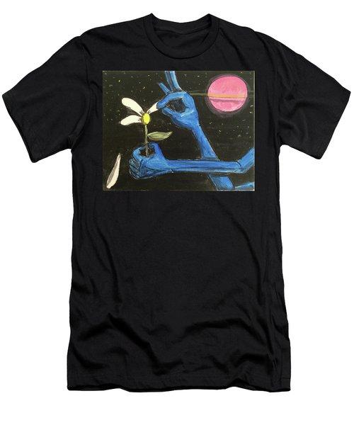 The Alien Loves Me... The Alien Loves Me Not Men's T-Shirt (Athletic Fit)