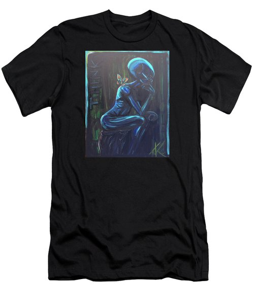 The Alien Thinker Men's T-Shirt (Athletic Fit)