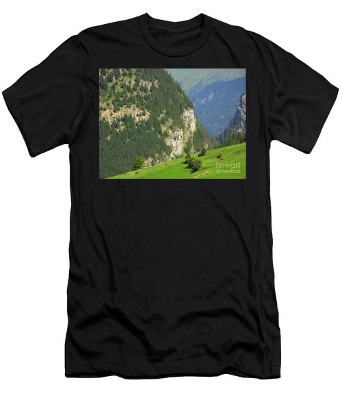 The Alps In Spring Men's T-Shirt (Athletic Fit)