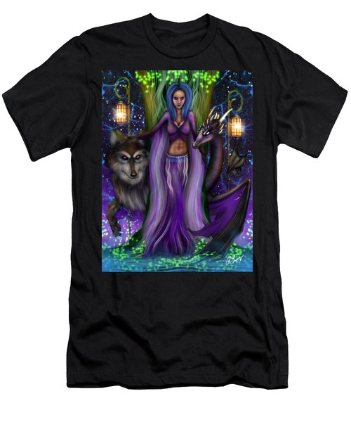 The Animal Goddess Fantasy Art Men's T-Shirt (Athletic Fit)