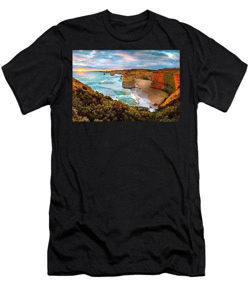 The Apostles Sunset Men's T-Shirt (Slim Fit) by Az Jackson
