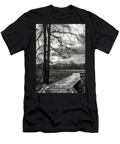 Men's T-Shirt (Slim Fit) featuring the photograph The Appalachian Trail by Eduard Moldoveanu