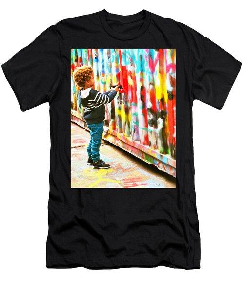 The Apprentice Graffiti Artist In Paris Men's T-Shirt (Athletic Fit)